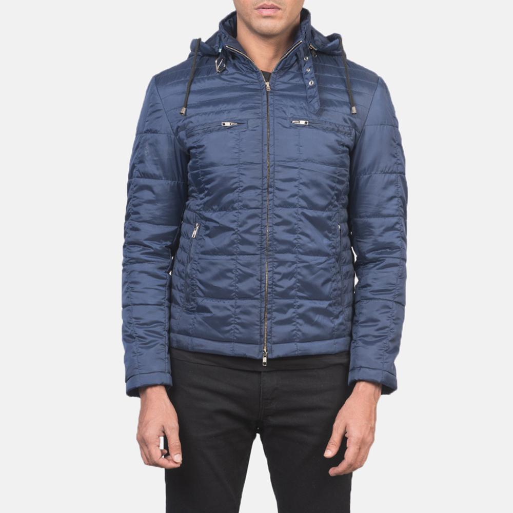 Men's Alps Quilted Blue Windbreaker Jacket 4