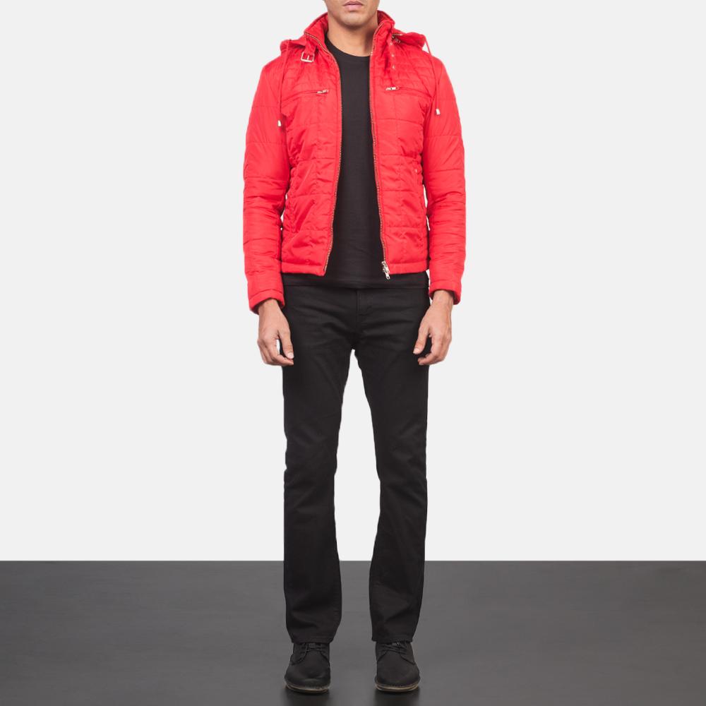 Men's Alps Quilted Red Windbreaker Jacket 1