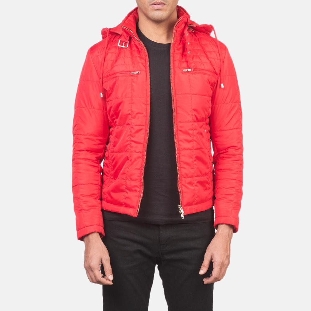 Men's Alps Quilted Red Windbreaker Jacket 3