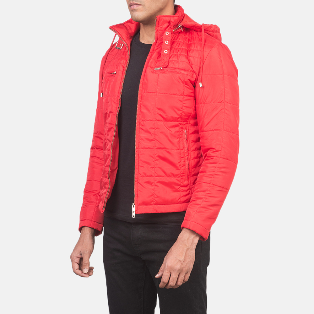 Men's Alps Quilted Red Windbreaker Jacket 2