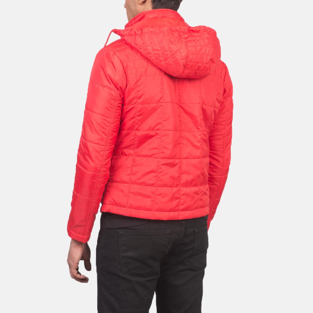 Men's Alps Quilted Red Windbreaker Jacket 5