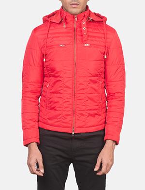 Men's Alps Quilted Red Windbreaker Jacket