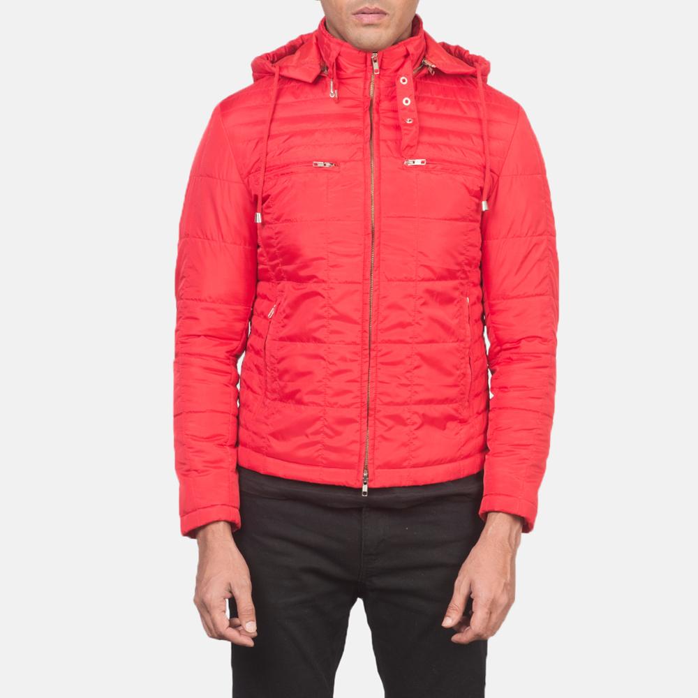 Men's Alps Quilted Red Windbreaker Jacket 4