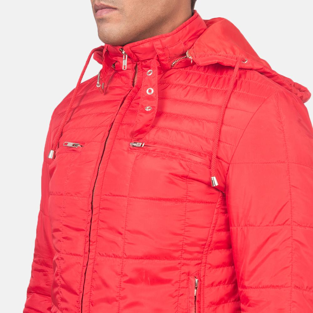 Men's Alps Quilted Red Windbreaker Jacket 6