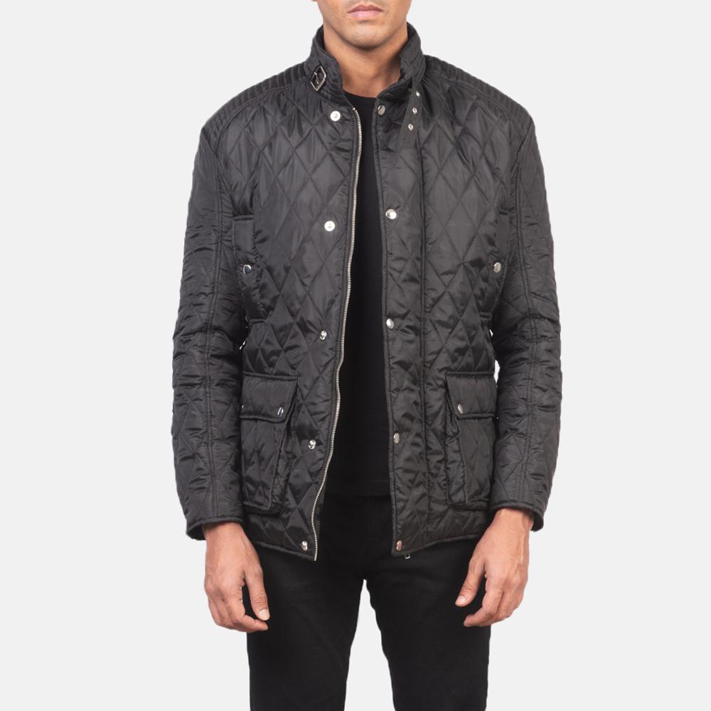 Men's Barry Quilted Black Windbreaker Jacket 3