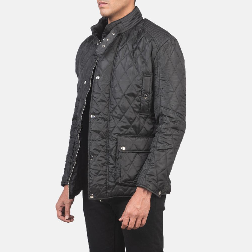 Men's Barry Quilted Black Windbreaker Jacket 2