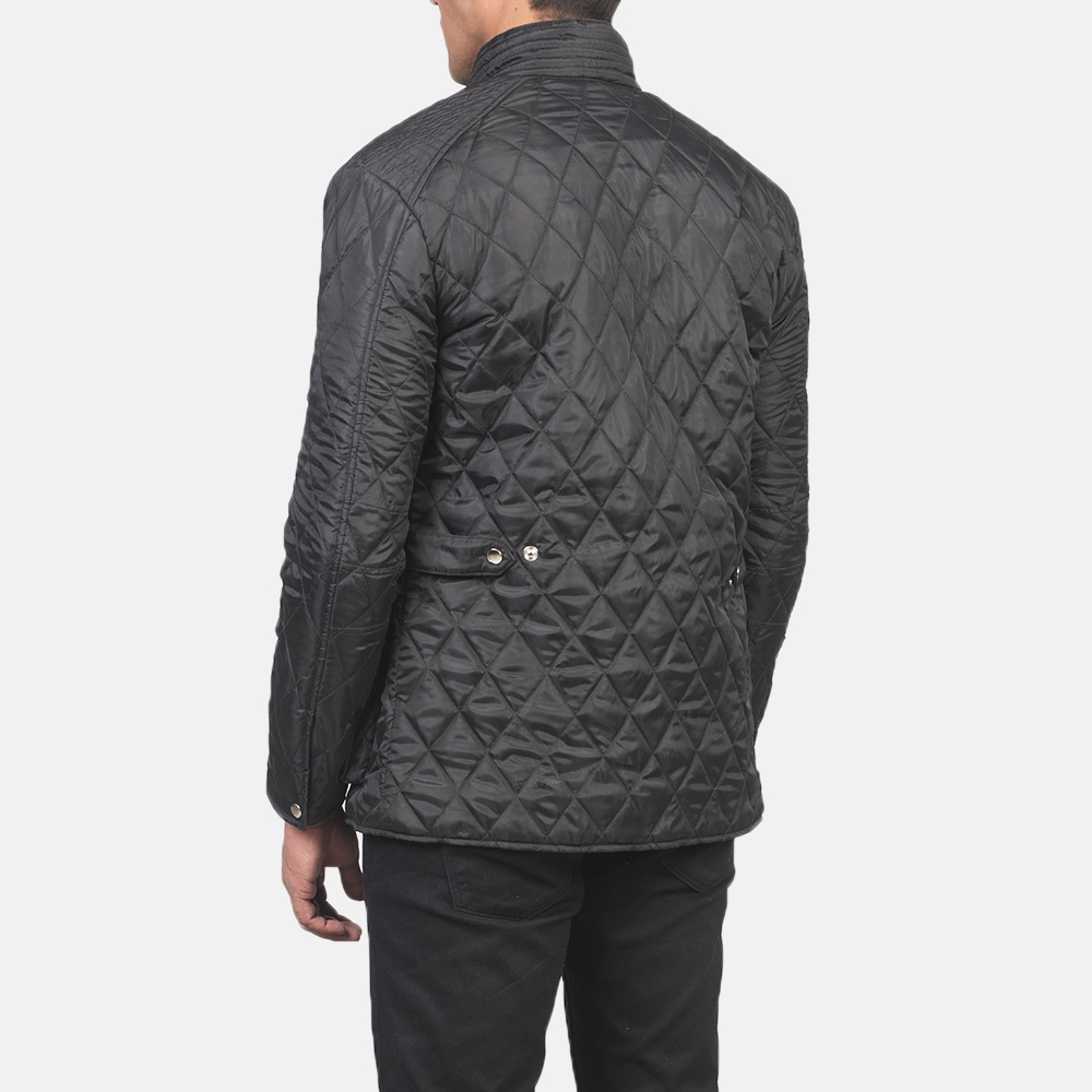 Men's Barry Quilted Black Windbreaker Jacket 5