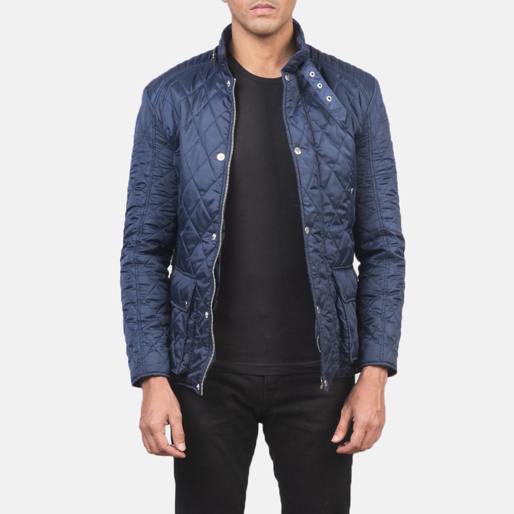 Men's Barry Quilted Blue Windbreaker Jacket 3