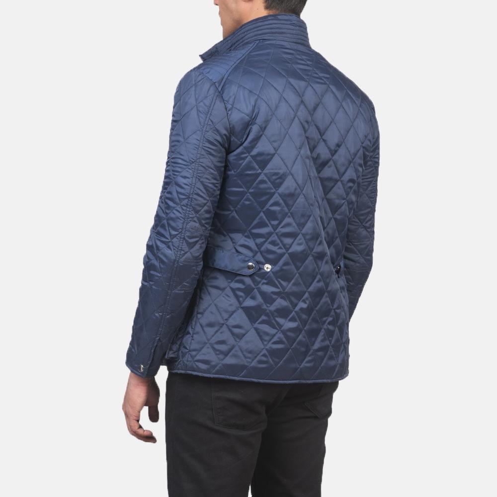 Men's Barry Quilted Blue Windbreaker Jacket 5