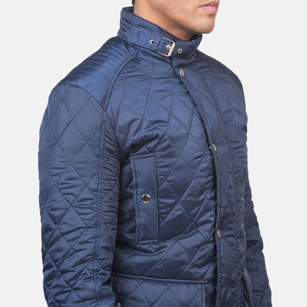 Men's Barry Quilted Blue Windbreaker Jacket 6
