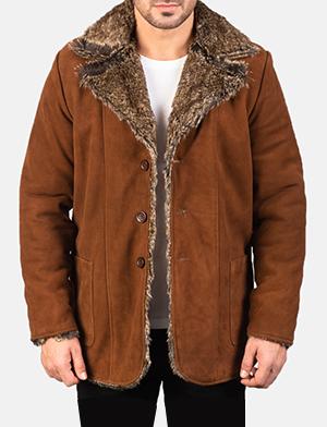 Men's Furlong Brown Leather Coat