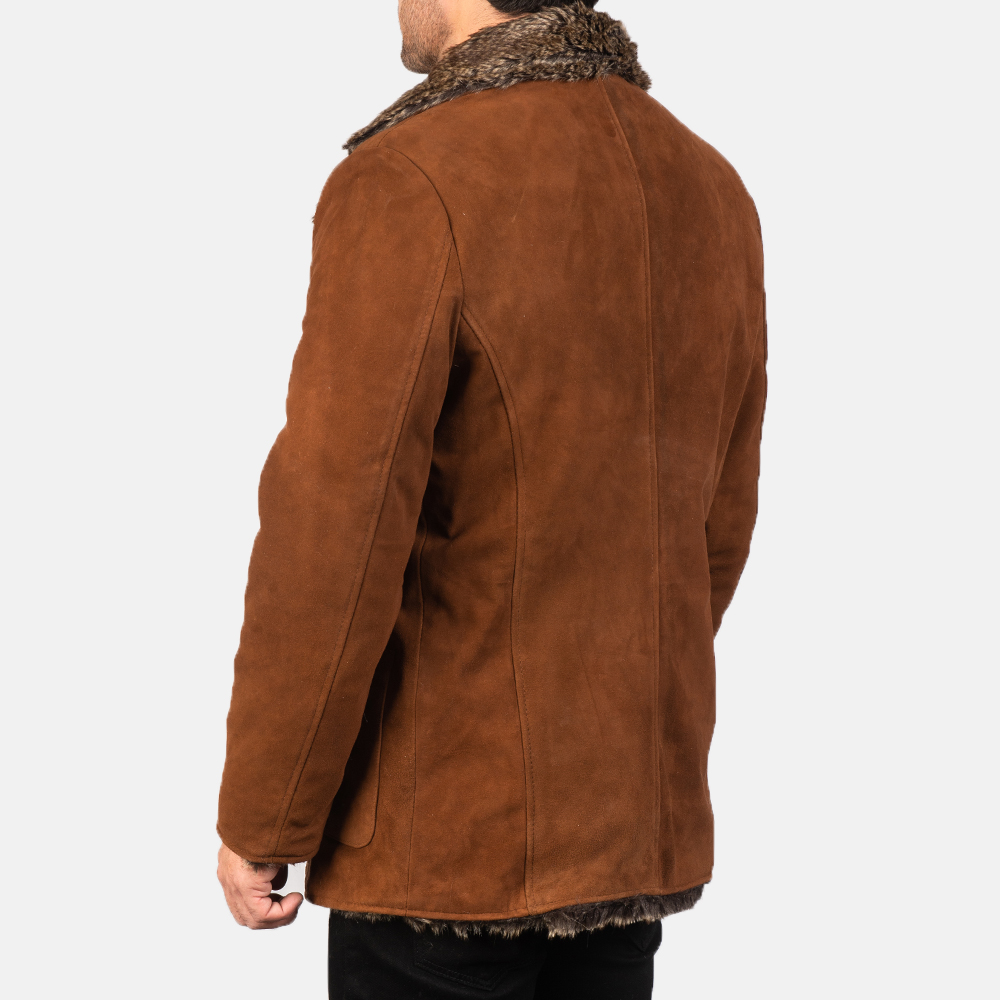 Men's Furlong Brown Leather Coat 5