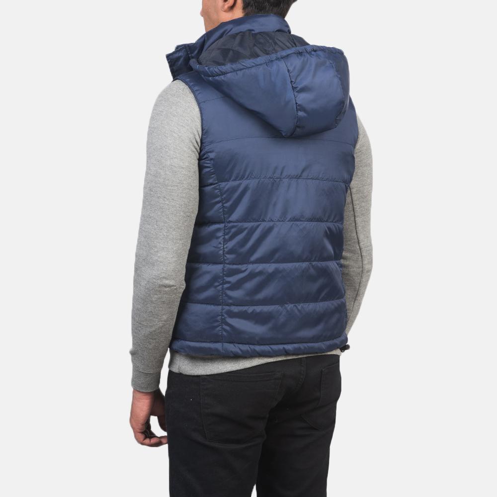 Men's Fuston Blue Hooded Puffer Vest 5
