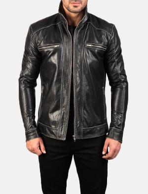 Men's Hudson Leather Biker Jacket