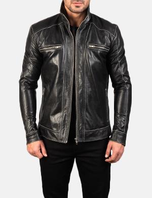 Men's Hudson Leather Biker Jacket