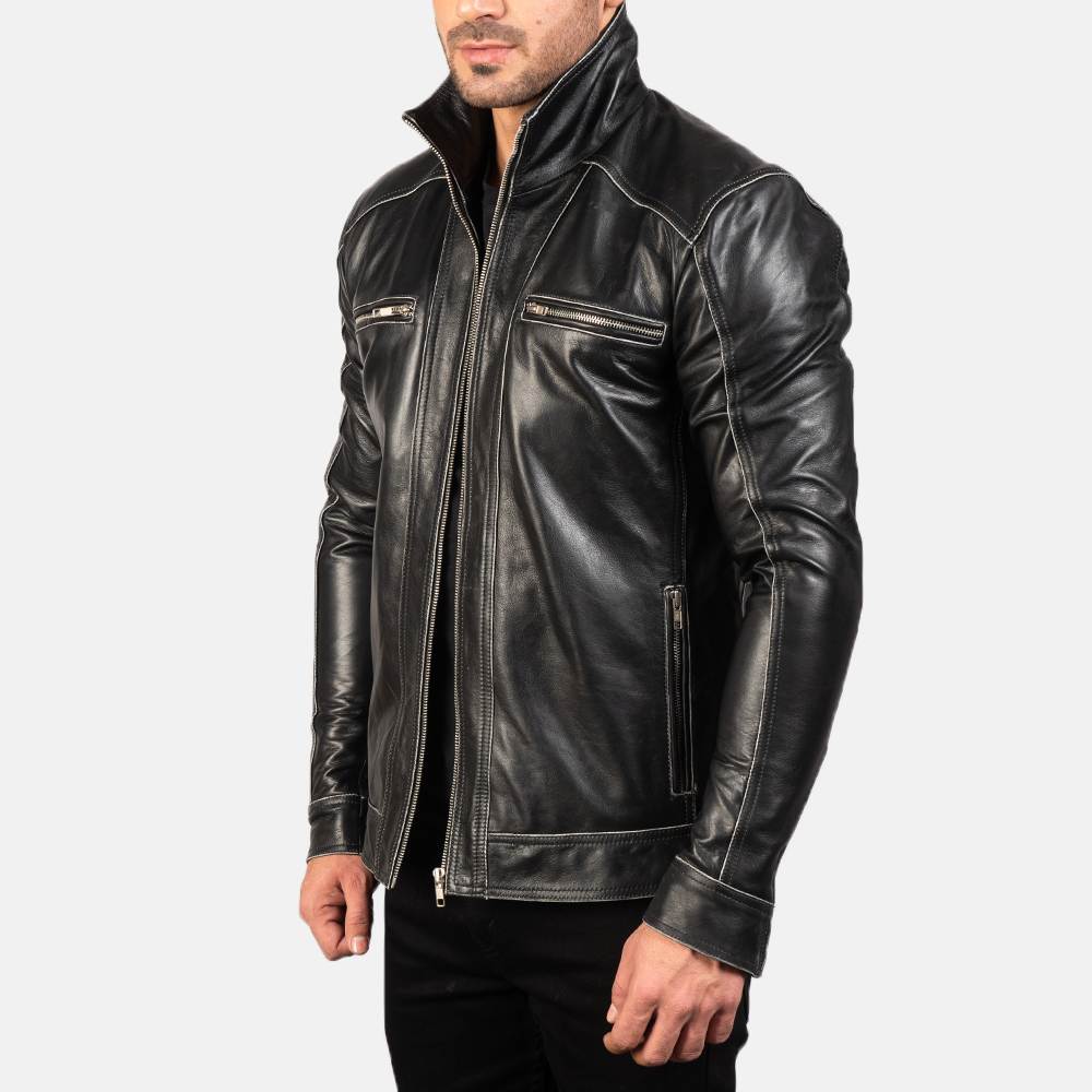 Men's Hudson Leather Biker Jacket 2