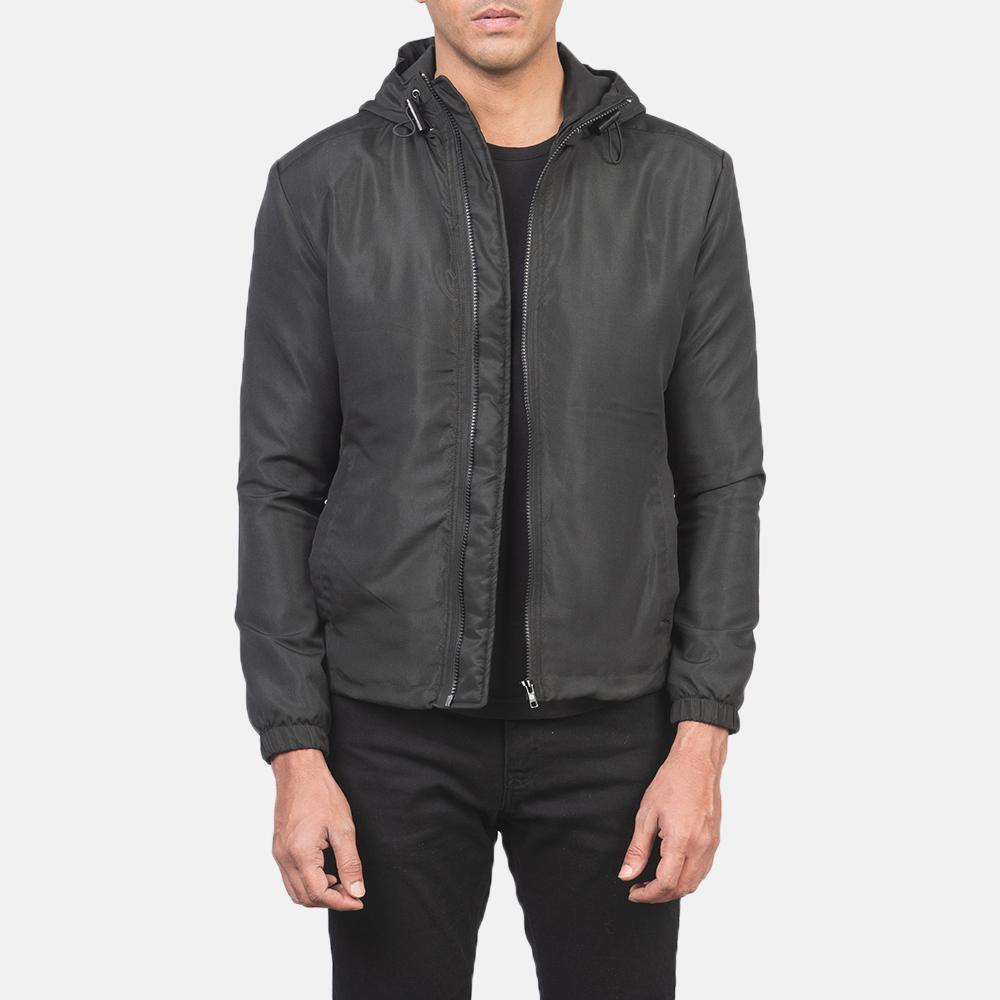 Men's Jimmy Black Hooded Windbreaker Jacket 3