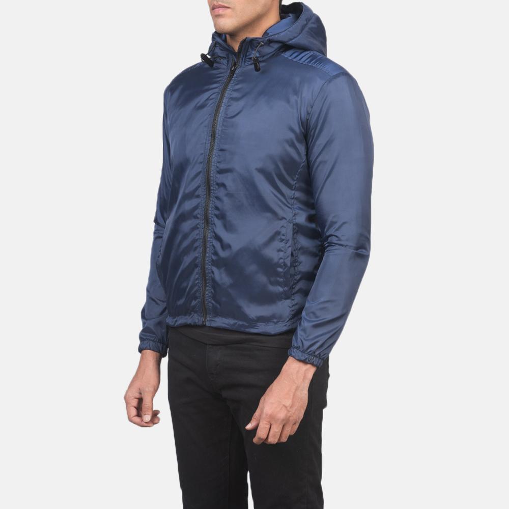 Men's Jimmy Blue Hooded Windbreaker Jacket 2