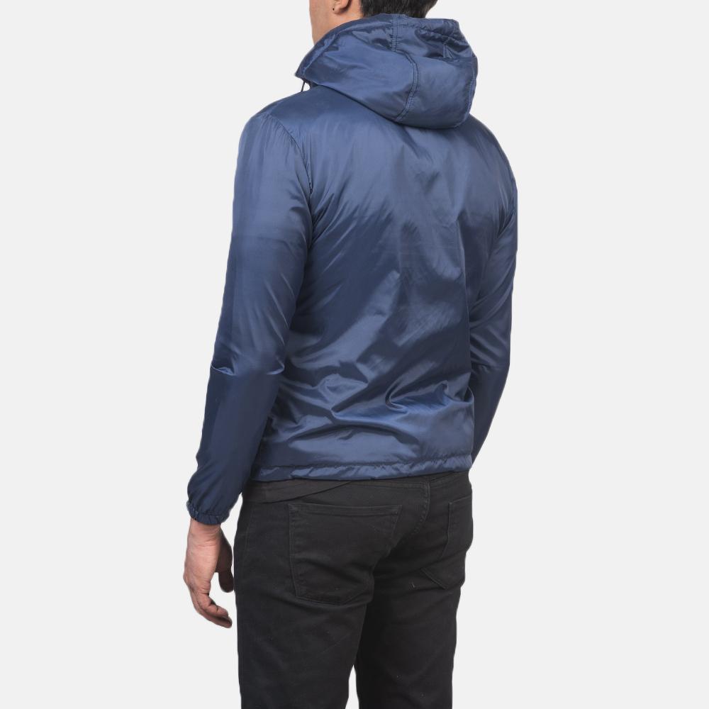 Men's Jimmy Blue Hooded Windbreaker Jacket 5