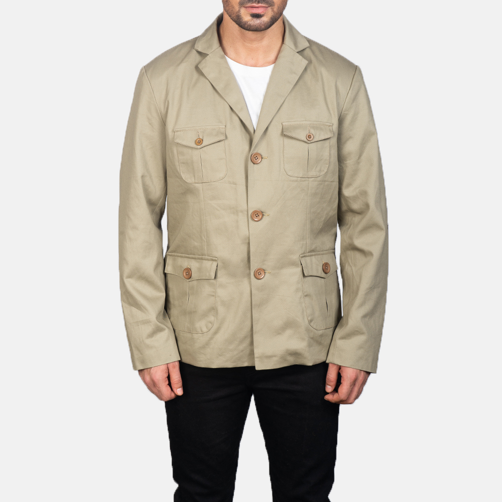 Men's Kajetan Beige Safari Jacket 4