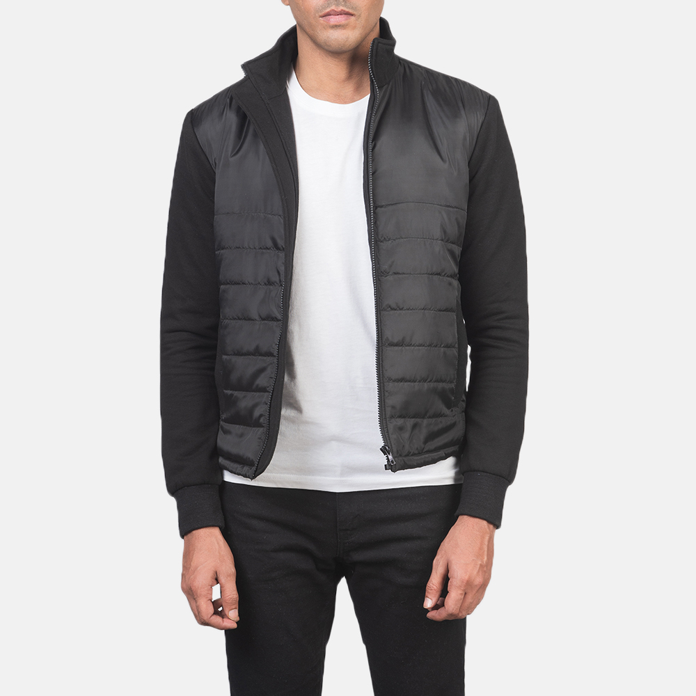 Men's Nashville Quilted Black Windbreaker Jacket 3