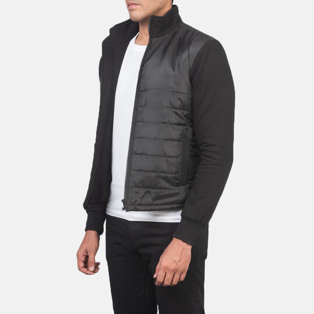 Men's Nashville Quilted Black Windbreaker Jacket 2