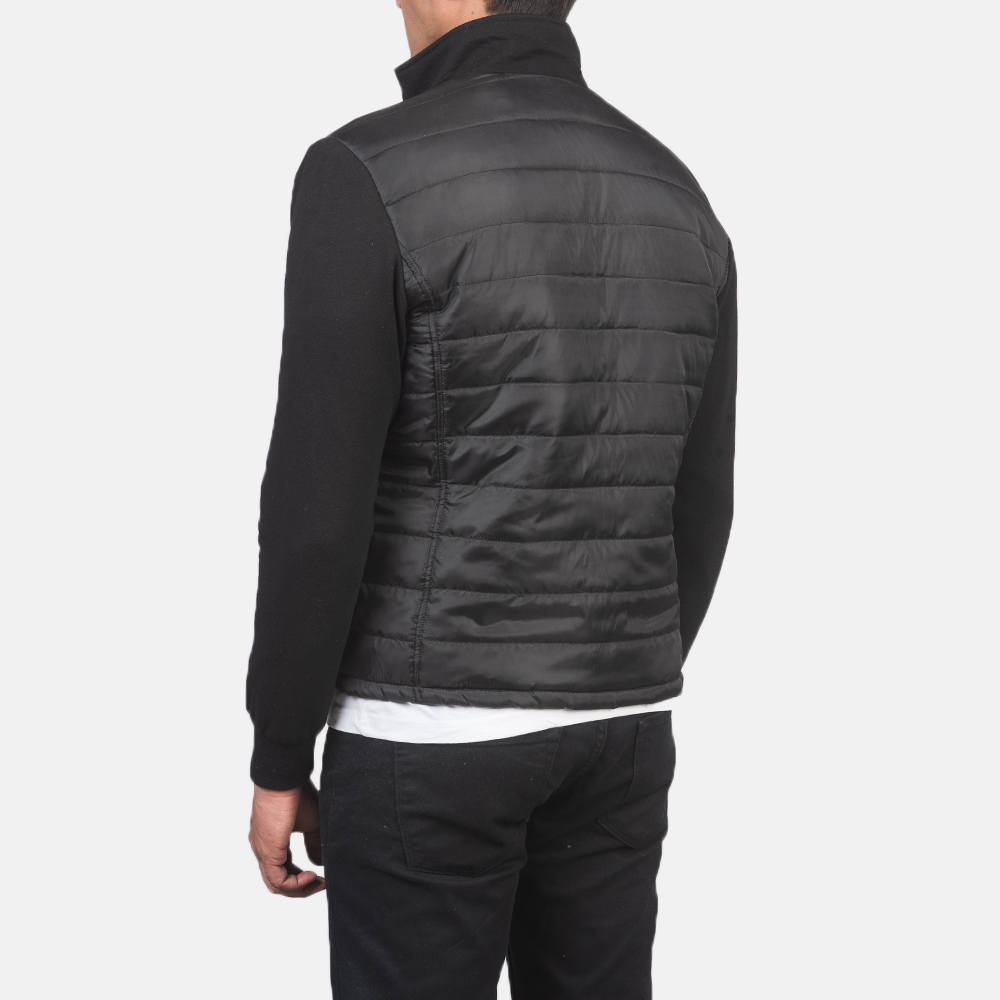 Men's Nashville Quilted Black Windbreaker Jacket 5