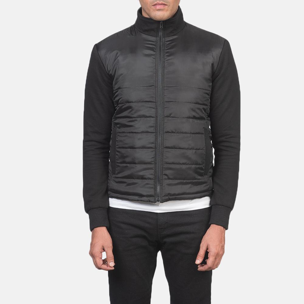 Men's Nashville Quilted Black Windbreaker Jacket 4