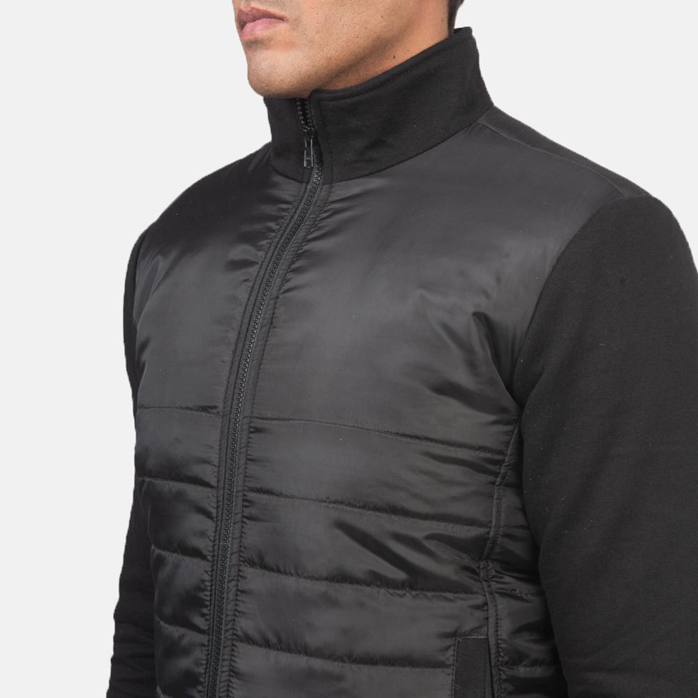 Men's Nashville Quilted Black Windbreaker Jacket 6