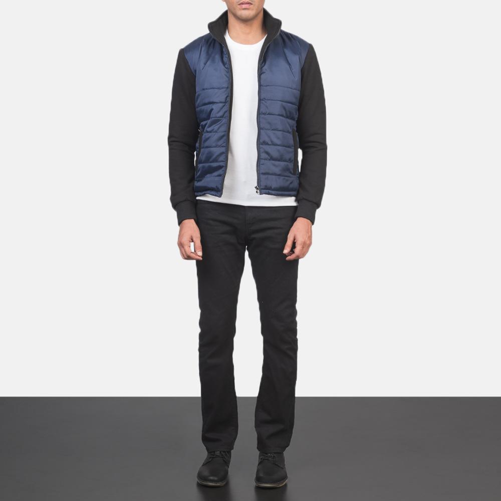 Men's Nashville Quilted Blue Windbreaker Jacket 1