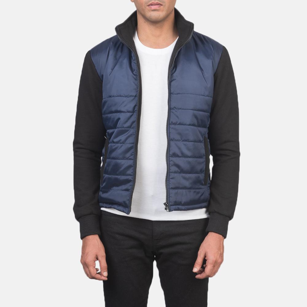 Men's Nashville Quilted Blue Windbreaker Jacket 3