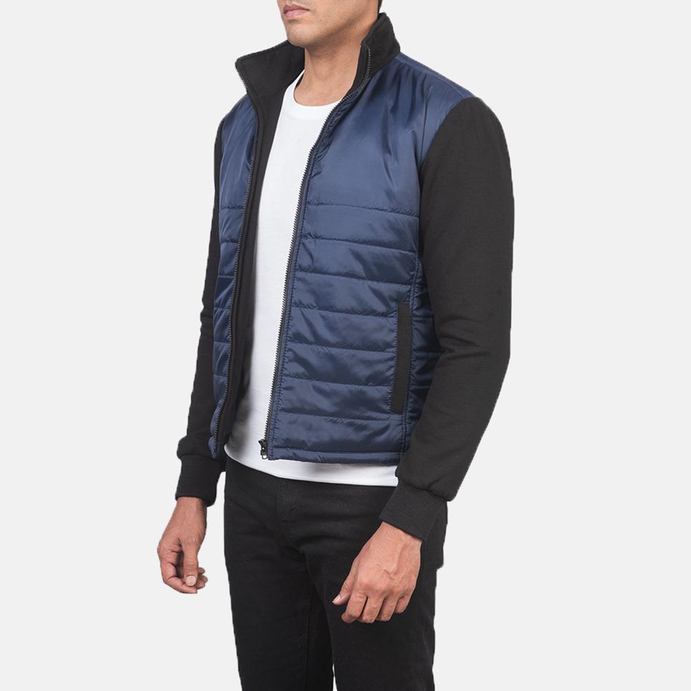 Men's Nashville Quilted Blue Windbreaker Jacket 2