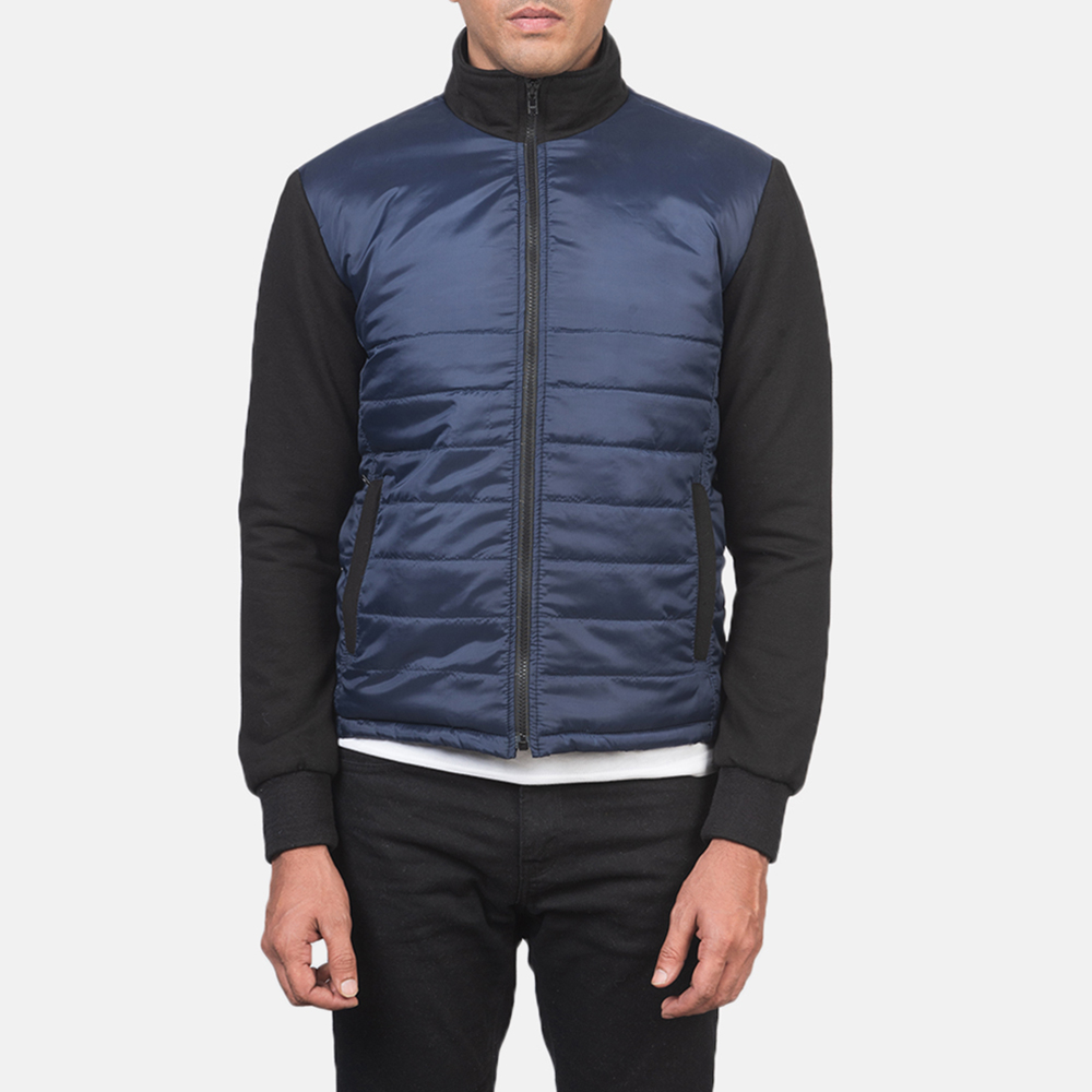 Men's Nashville Quilted Blue Windbreaker Jacket 4