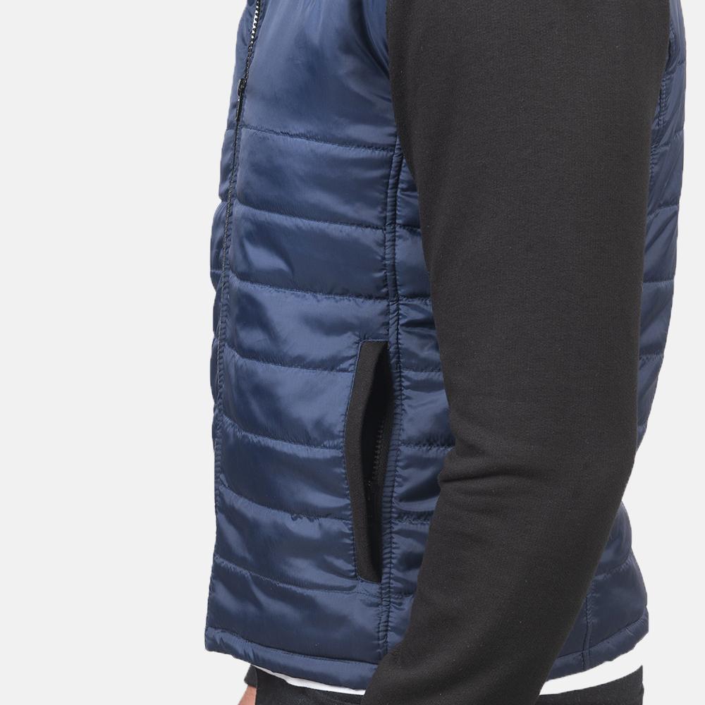 Men's Nashville Quilted Blue Windbreaker Jacket 6