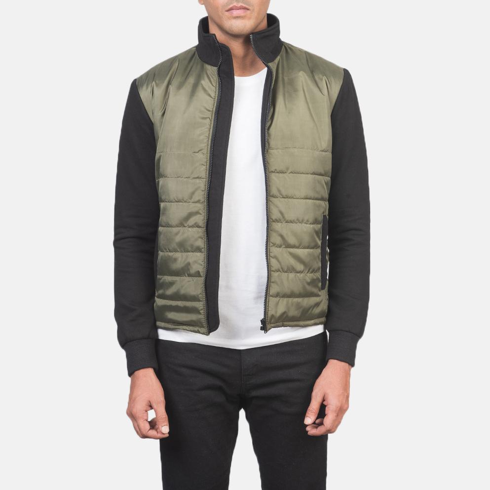 Men's Nashville Quilted Green Windbreaker Jacket 3
