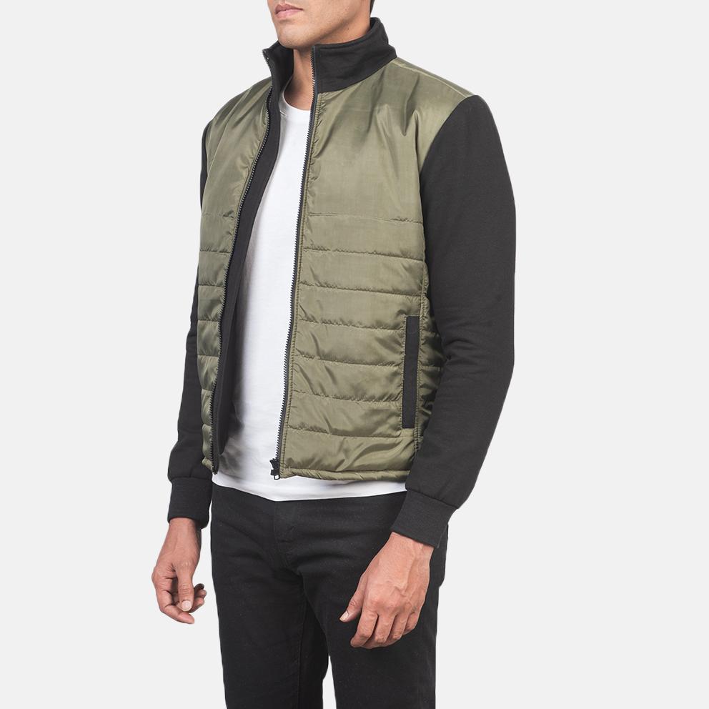 Men's Nashville Quilted Green Windbreaker Jacket 2