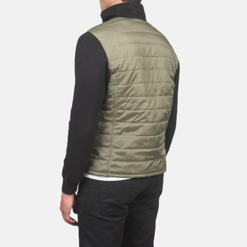 Men's Nashville Quilted Green Windbreaker Jacket 5