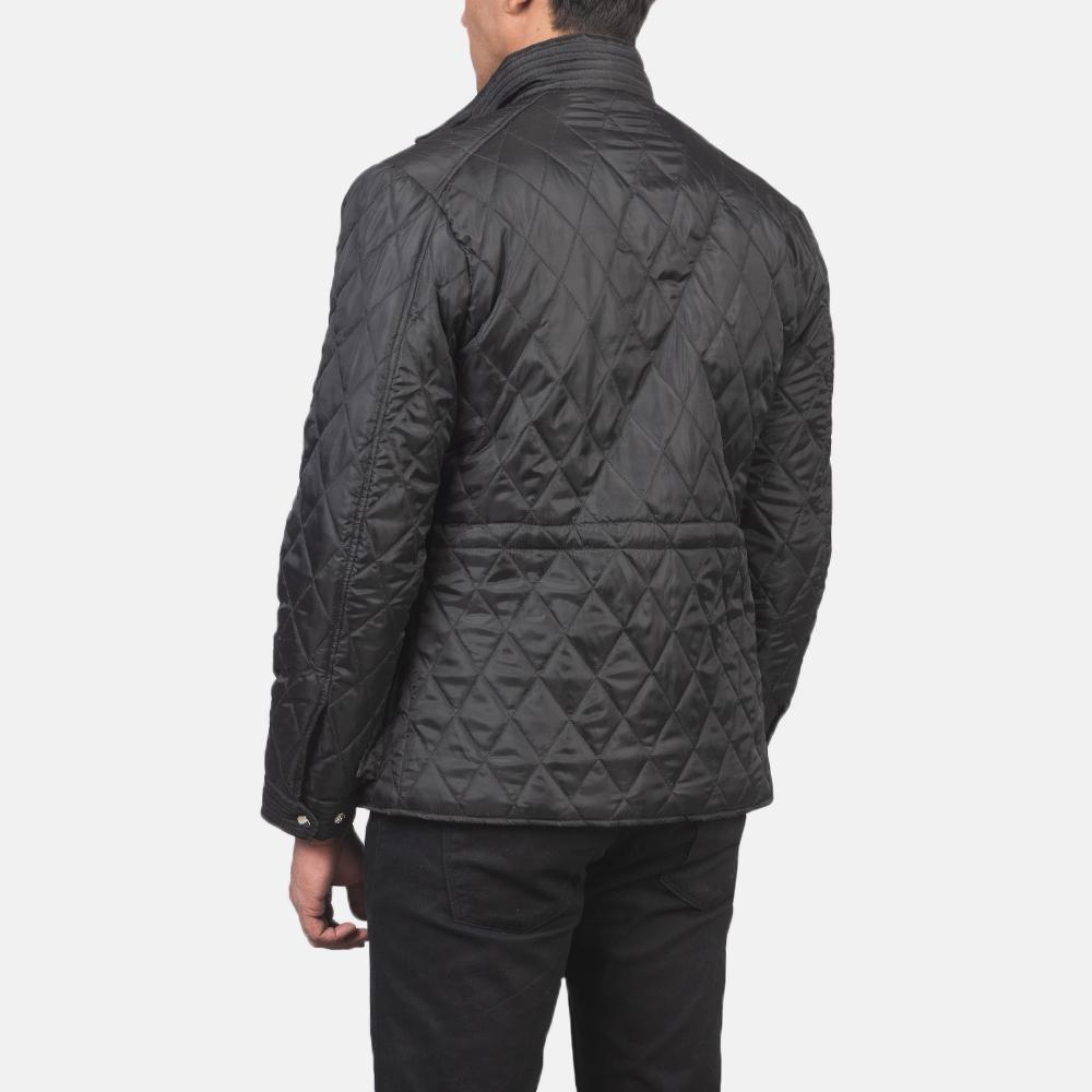 Men's Nelson Quilted Black Windbreaker Jacket 5
