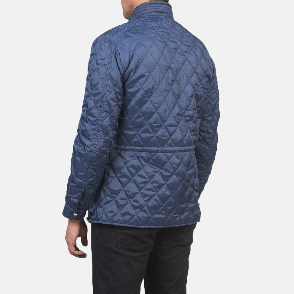 Men's Nelson Quilted Blue Windbreaker Jacket 5