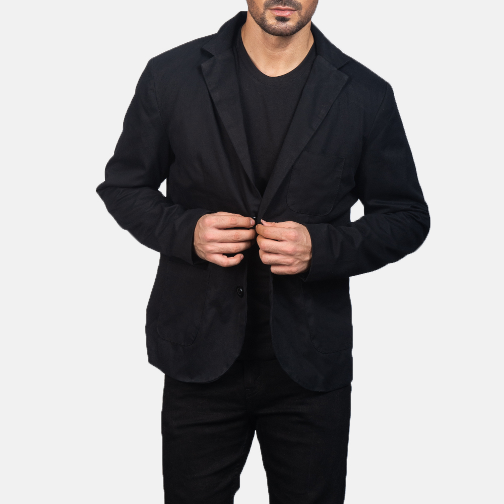 Men's Black Blazer 3