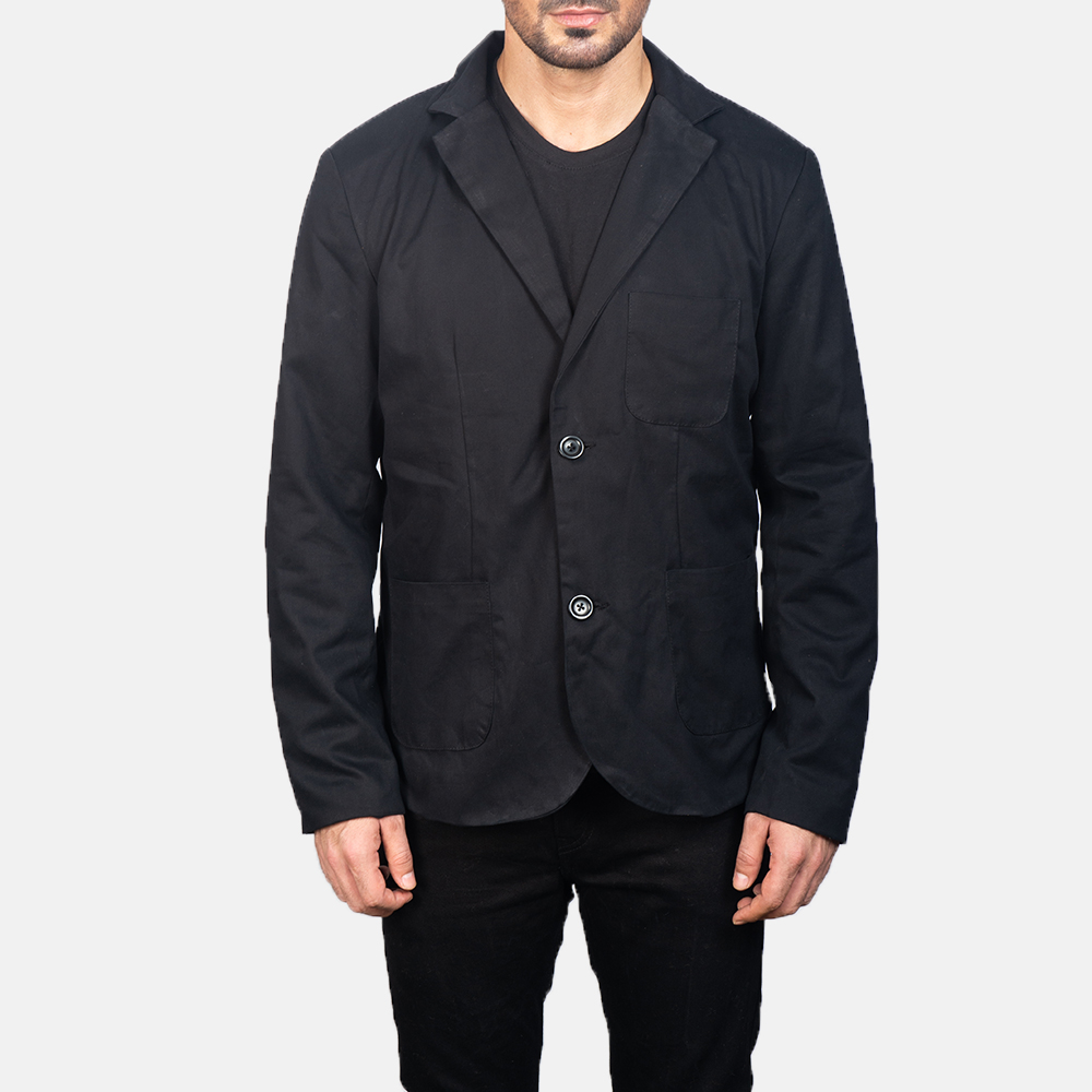 Men's Black Blazer 4