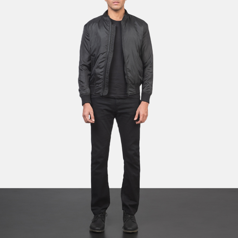 Men's Ramon Black Bomber Jacket 1