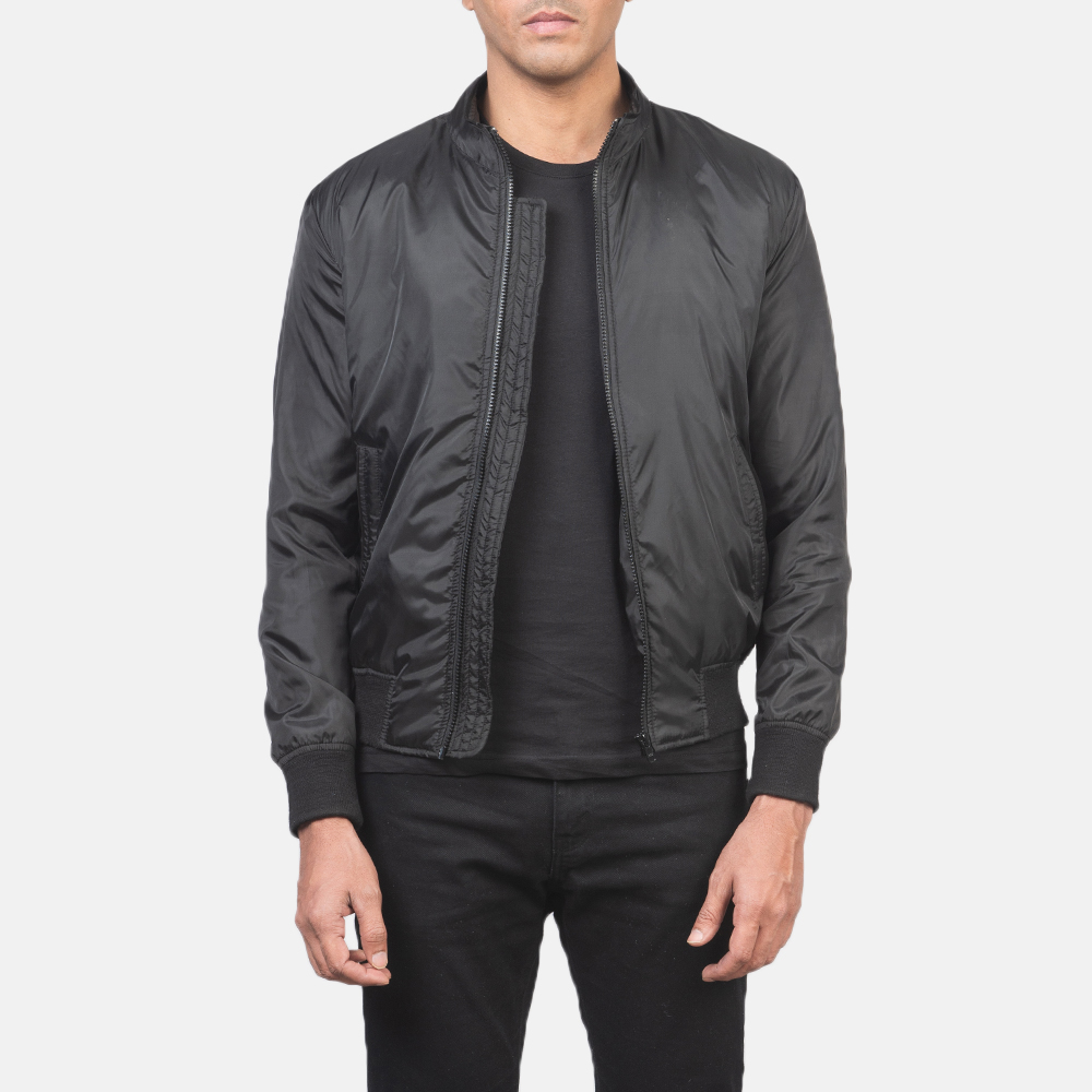 Men's Ramon Black Bomber Jacket 3