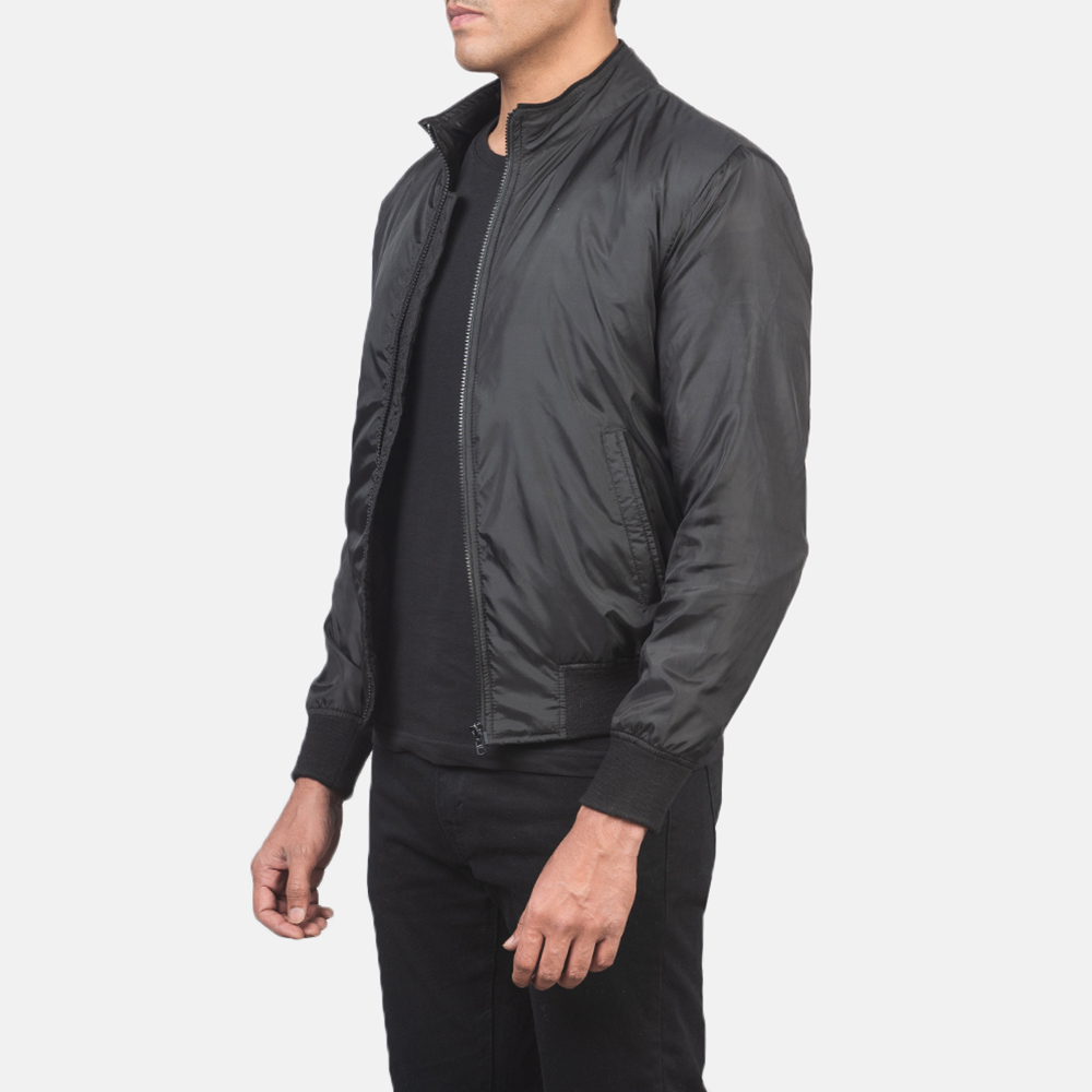 Men's Ramon Black Bomber Jacket 2