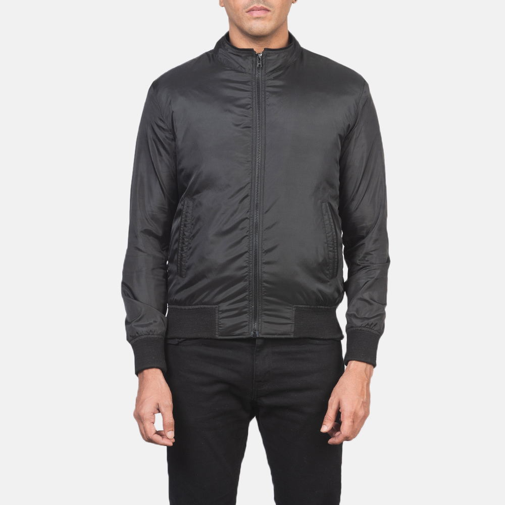 Men's Ramon Black Bomber Jacket 4