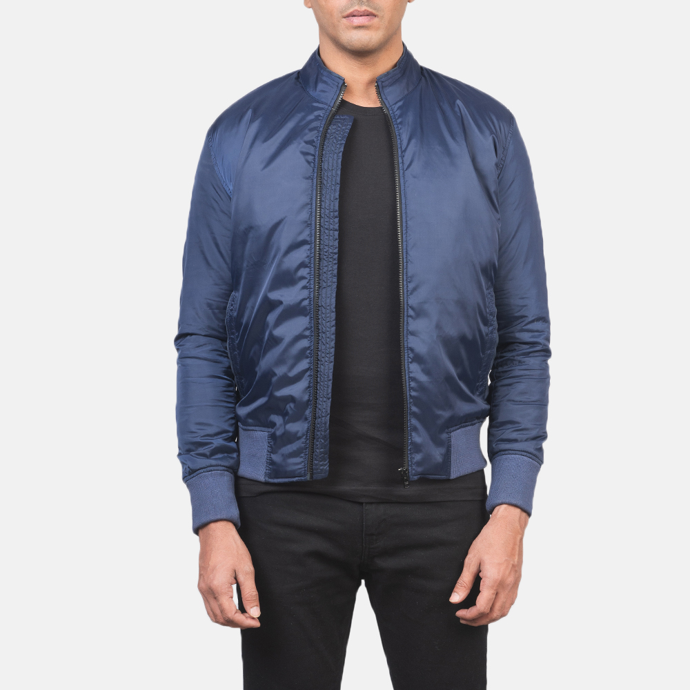 Men's Ramon Blue Bomber Jacket 3