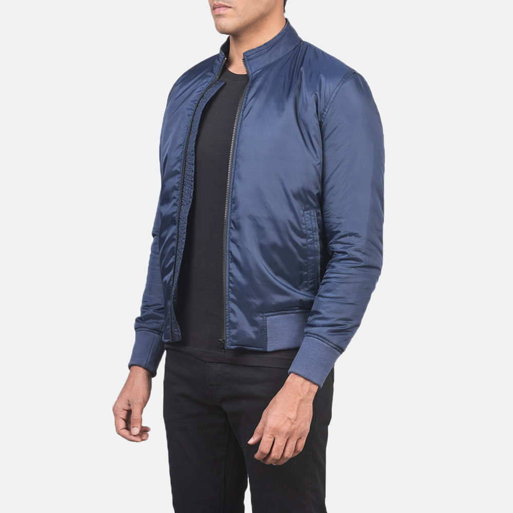 Men's Ramon Blue Bomber Jacket 2
