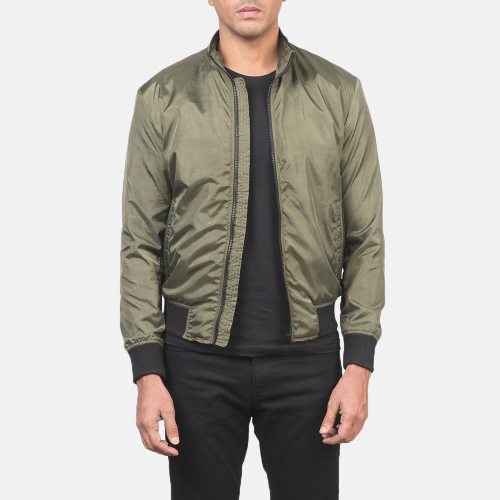 Men's Ramon Green Bomber Jacket 3
