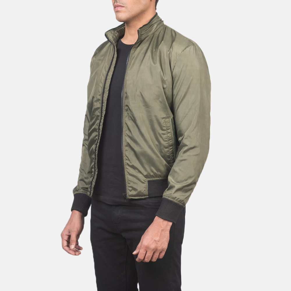 Men's Ramon Green Bomber Jacket 2