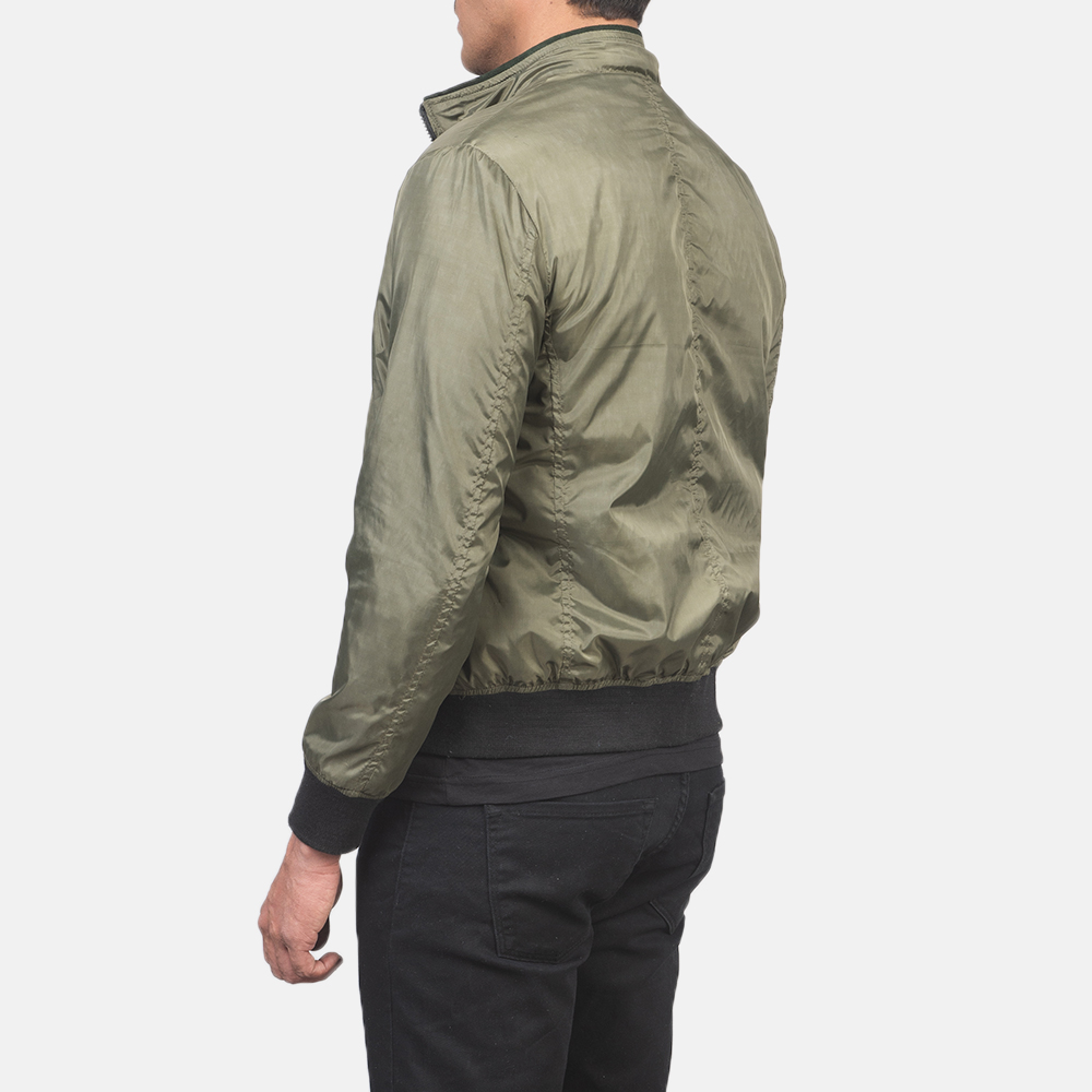 Men's Ramon Green Bomber Jacket 5